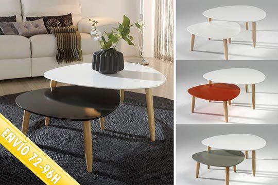 Pack de 2 mesas de centro Style room