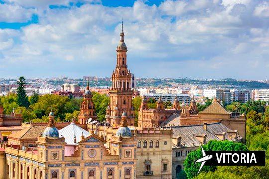 Escápate al sur y visita Sevilla y sus mejores rincones ¡3 noches en hotel con desayuno y vuelo directo desde Vitoria!