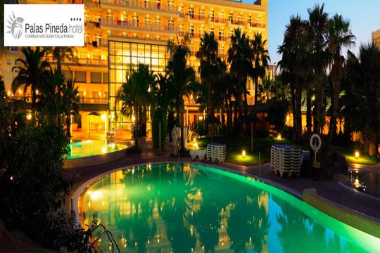 Encuentra en la Costa Dorada el descanso y el sol que buscas del 12 al 15 de octubre ¡3 noches en habitación doble en el Complejo Palas Pineda Hotel****!