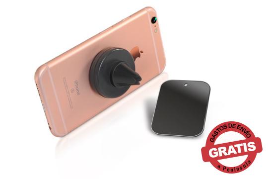 La forma más práctica de llevar tu Smartphone en el coche sin ocupar espacio ¡Soporte magnético para smartphones de rejilla!