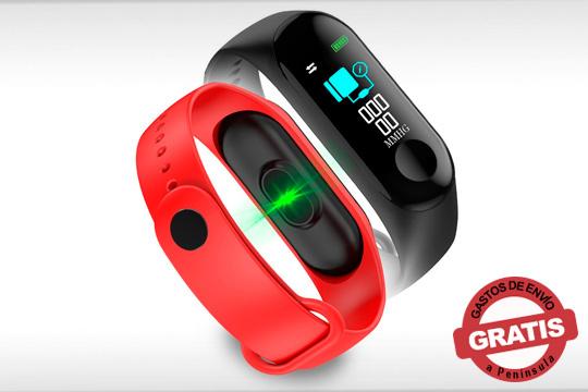 SmartBand Mapan Pro en dos colores con funciones deportivas, de salud, notificaciones del móvil y llamadas entrantes ¡Ligera, deportiva y funcional!