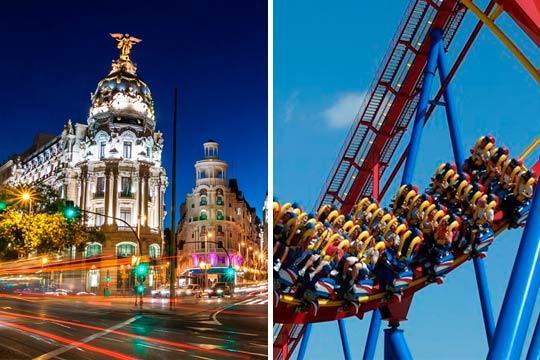 Del 12 al 15 de octubre disfruta de Madrid y de dos días de diversión en el parque Warner