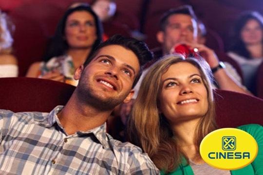 Entrada de cine para las salas Cinesa ¡Válida para cualquier día de la semana y sesión!