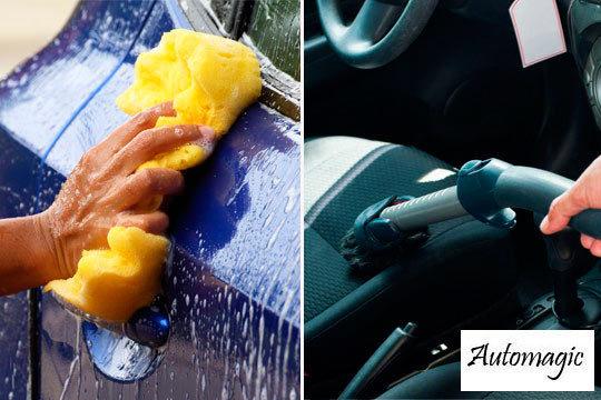 ¡Consigue que tu coche reluzca como el primer día! Lavado exterior + aspirado interior + cristales con opción a limpieza de tapicería y abrillantado de carrocería en Automagic