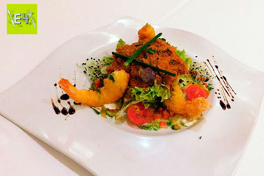 Disfruta de un exquisito y completo menú con txuleta a la parrilla en el E4 Jatetxea de Donosti