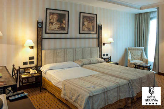 Pasa un día diferente con una noche con desayuno en el hotel Gran Vía**** de Logroño ¡Con visita a bodega incluida!