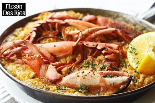 Menú de 5 platos con exquisito arroz caldoso con bogavante para 2 o 4 (Vargas)