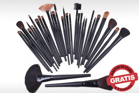 Maquíllate como una auténtica profesional con este set de brochas de maquillaje de pelo natural ¡Incluye una bolsa para guardarlas!
