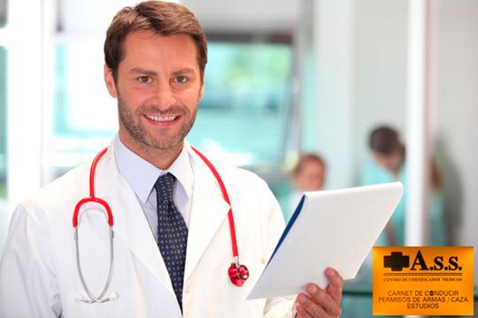Obtén el Certificado médico-psicotécnico para el carné de conducir, licencias de armas, animales potencialmente peligrosos o seguridad privada en Centro Médico ASS