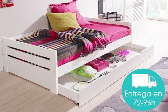 Ofertas cama nido con caj n de almacenaje en madrid for Cama nido oferta madrid