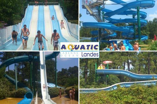 Disfruta de un día en familia o con amigos en el parque 'Aquatic Landes' en la estación balnearia de Labenne Océan ¡Pura diversión!