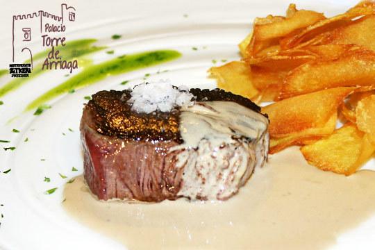 Menú degustación de 6 platos en el Palacio Torre de Arriaga