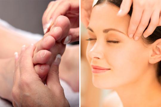 Disfruta de una sesión relajante de los pies a la cabeza en el centro Aitara con un masaje craneofacial + reflexología podal