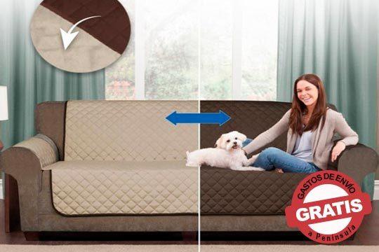 Protector de sofá o sillón reversible ¡Protege de las manchas de comida, de bebidas, de los pelos y uñas de los animales!