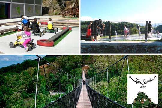 Vive un día lleno de aventuras en el parque IrriSarri Land ¡Tirolina, hinchables, rutas, puente tibetano, juegos... y mucho más!