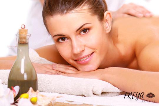 Masaje relajante de cuerpo entero ¡Con aceites de chocolate y naranja!