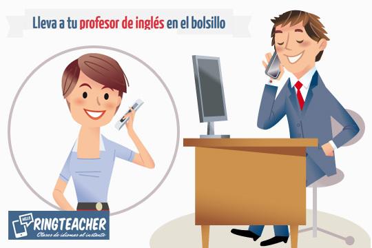 Clases de inglés por teléfono con Ringteacher