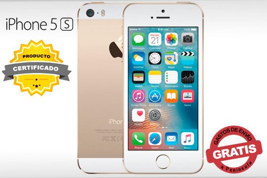 Presume de móvil elegante y funcional con el iPhone 5S de 32GB en color Oro ¡Desbloquéalo con su sensor de huella dactilar!