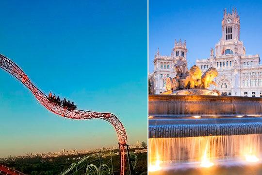 Disfruta de Madrid en mayo y junio con un fin de semana en hotel + entrada al parque de atracciones y entrada al zoo aquarium ¡Para 2, 3 o 4 personas!