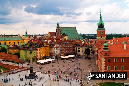 En octubre disfruta de una de las ciudades más bellas de Europa Central, Varsovia con un viaje que incluye vuelo desde Santander y 4 noches en estudio ¡Te lo mereces!
