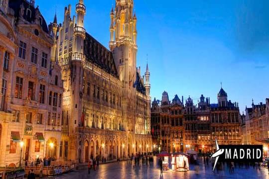 Bruselas, Brujas y Gante: Vuelo de Santander + 3 noches + excursión