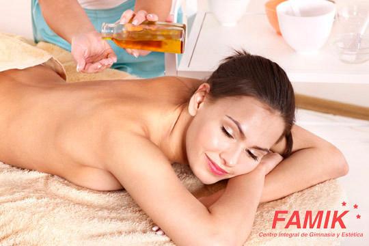 Cuídate con un masaje a elegir entre relajante, descontracturante o anticelulítico en Famik