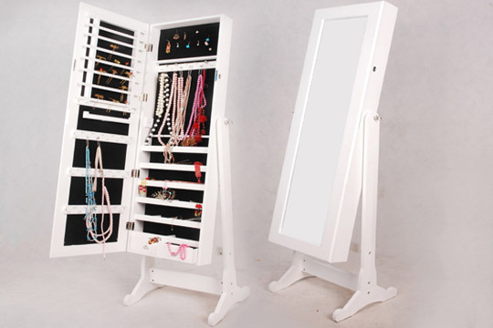 Ofertas y descuentos armario joyero con espejo de cuerpo for Espejo pared cuerpo entero