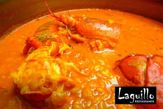 Menú de arroz con bogavante en Restaurante Laguillo