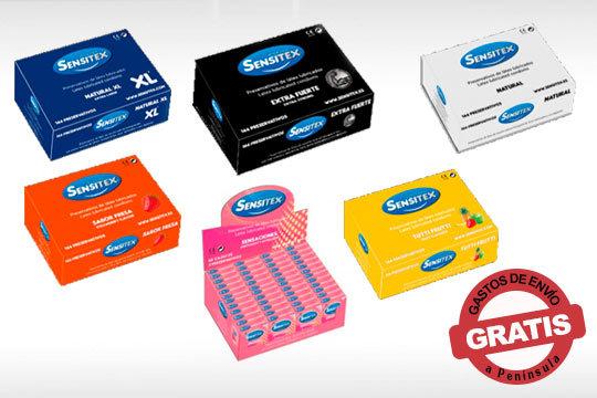 Disfruta con tu pareja de los momentos más sensuales con los preservativos Sensitex de calidad premium ¡Con gastos de envío incluidos!