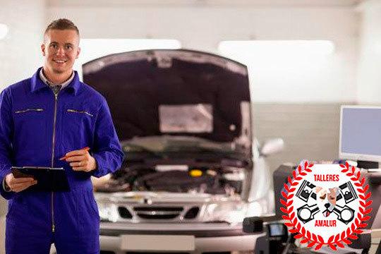 Deja tu coche en manos de Talleres Amalur para que te lo pongan a punto con un cambio de correa de distribución, rodillo tensor y rodillo guía y bomba de agua
