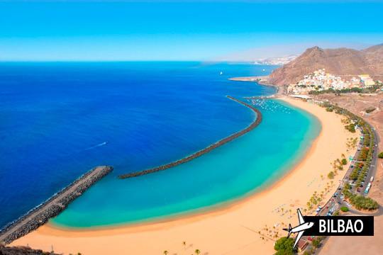 En agosto haz las maletas y viaja al buen tiempo ¡Vuelo a Tenerife desde Bilbao en media pensión o todo incluido!