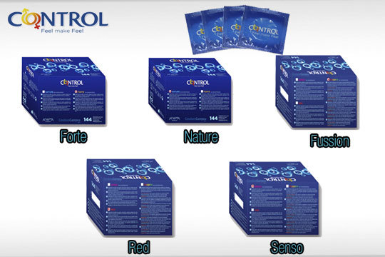 Pack de preservativos Control: Fussion, Nature, Forte, Senso...