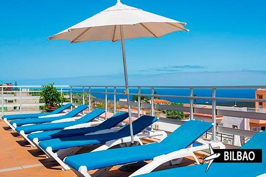 El 26/07 a vuela a Tenerife ¡Avión desde Bilbao + 7 noches con media pensión en el hotel Globales Acuario!