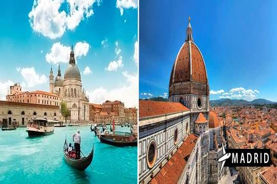 Febrero y marzo a Italia ¡Vuelo + estancia en Florencia y Venecia!