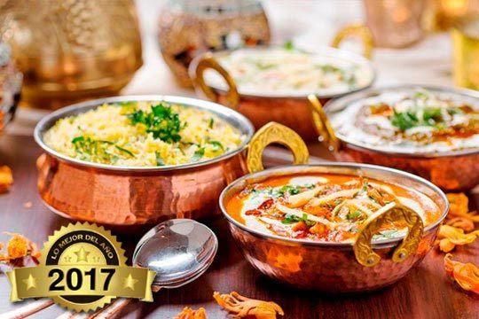 Menú degustación hindú de 8 platos ¡Añade servicio a domicilio!
