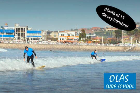 ¡Súbete a la ola con Olas Surf School! Disfruta aprendiendo a surfear en un campamento de surf de 3 o 4 días con 4 horas de clase al día, alojamiento, pensión completa y muchas actividades más