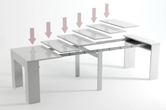 Colectivia muebles colectivia mesa extensible de for Mesas de comedor de vidrio extensibles