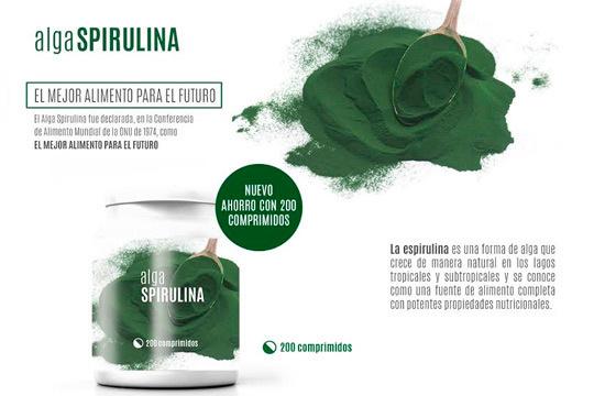 Cuídate y siéntete mejor con el alga Spirulina, un suplemento alimenticio que ayuda a mejorar el equilibrio nutricional, incrementa la energía y controla el peso ¡Promoción de Fin de Año!