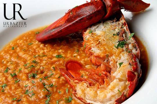Menú de arroz con bogavante con entrantes, postre y bebida en Urbazter
