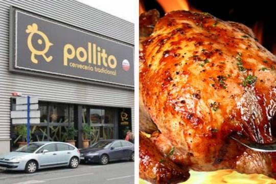 Menú de pollo, paletilla ibérica, ensalada, patatas, pimientos, morcilla, postre y bebida por 12,9€ en la cervecería Pollito ¡Ven en grupo!