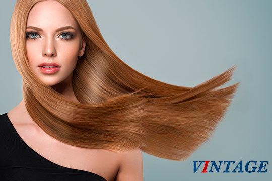 Con el alisado japonés + brushing conseguirás una melena lisa por mucho tiempo ¡Acércate a la peluquería Vintage para comprobarlo!