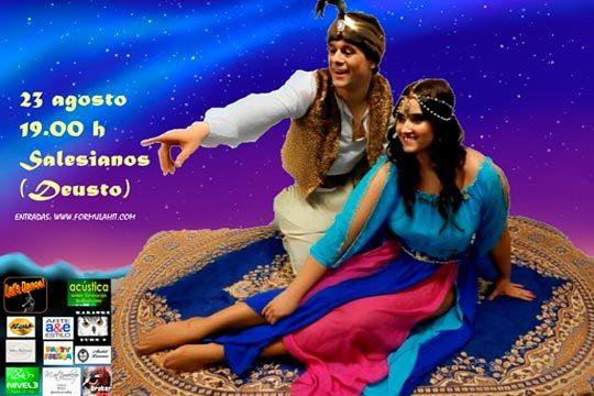 Pasa una tarde inolvidable en familia con el espectáculo de 'Aladdin y la lámpara maravillosa' el 23 de agosto en el teatro de Salesianos de Deusto