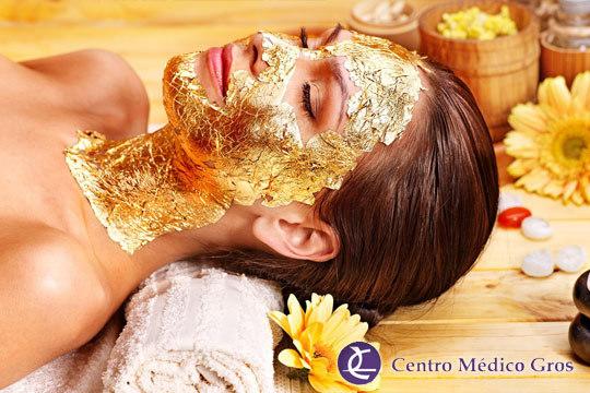 Suaviza las arrugas de tu rostro e hidrata y tonifica la piel con un tratamiento facial de lujo ¡Con oro puro de 24 kilates y ácido hilurónico!