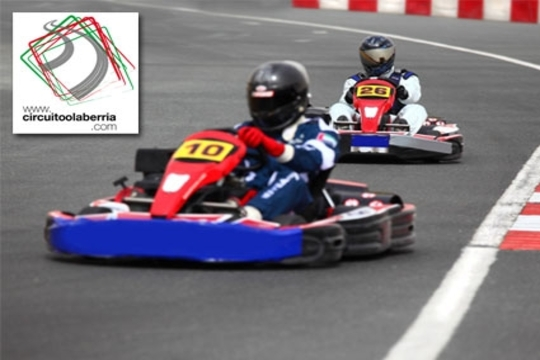 Circuito Olaberria : Colectivia karting olaberria sesión de karts en el