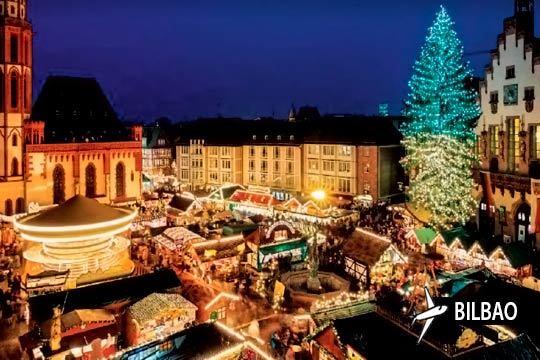 En el puente de diciembre escápate a Frankfurt y disfruta de sus mercados navideños y ambiente con 3 noches con desayunos en hotel ¡Incluye vuelo desde Bilbao y visitas guiadas a la ciudad!