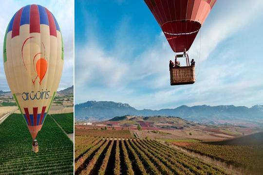 Vuelo en globo sobre los viñedos de La Rioja + almuerzo típico ¡Para adultos y niños!
