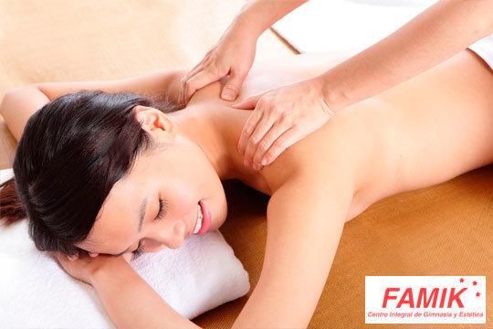 Tratatamiento Detox de 1 hora con aromaterapia y musicoterapia personalizadas en Famik ¡Disfruta de un masaje completo relajante con productos sensoriales!