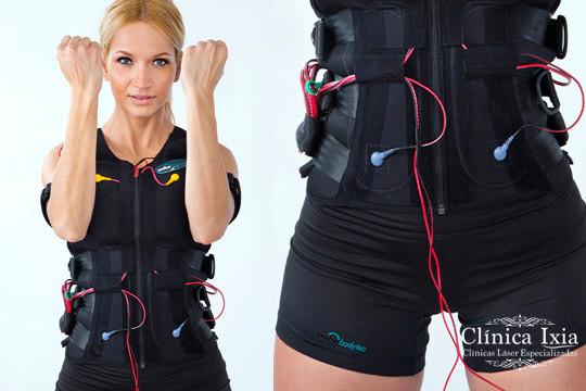 Ahorra tiempo y consigue resultados increíbles con 2 o 4 sesiones con chaleco de electroestimulación muscular y entrenador personal en la Clínica Ixia