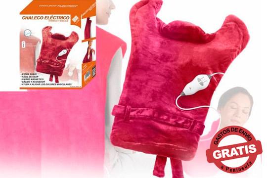 Con el chaleco eléctrico térmico y de masaje conseguirás liberar tensión y combatir dolores musculares y de articulaciones ¡Diseño extra grande para cubrir más!