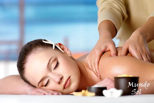 Recupera tu bienestar con un masaje Shiatsu + Masaje relajante con aromaterapia de media hora en Mundo Sol
